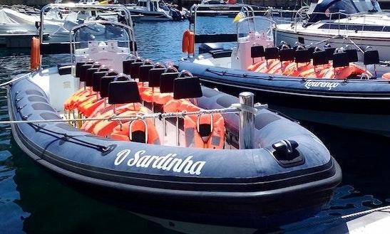 Charter O Sardinha Rigid Inflatable Boat In Caniço, Santa Cruz, Portugal