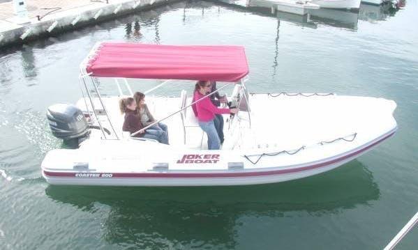 Rent 20' Joker Coaster 600 Rigid Inflatable Boat in Hyères, France