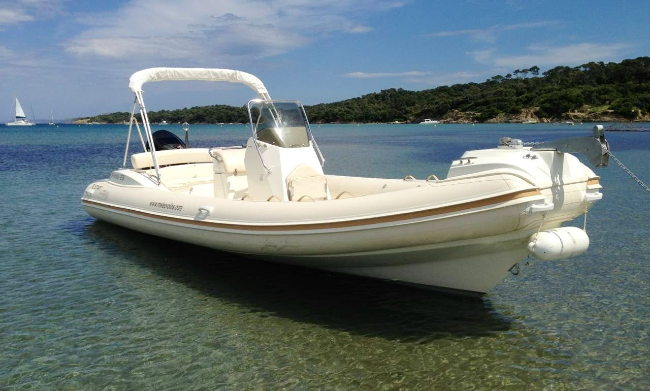 Rent 25' Nuova Jolly Prince 23 Rigid Inflatable Boat in Hyères, France