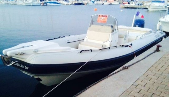 Hire A 26' Clubman Inflatable Boat For 14 People In Hyères, France