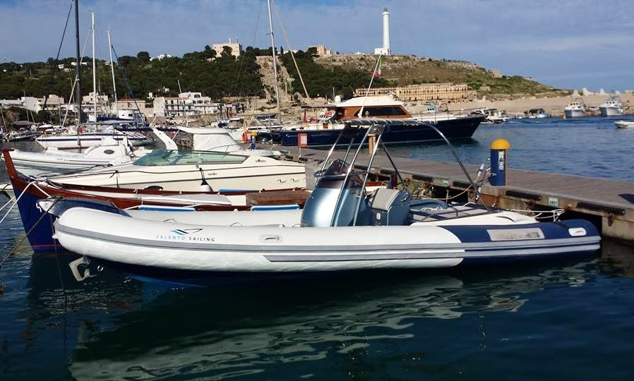 Charter 20' Stilmar Rigid Inflatable Boat in Leuca, Puglia