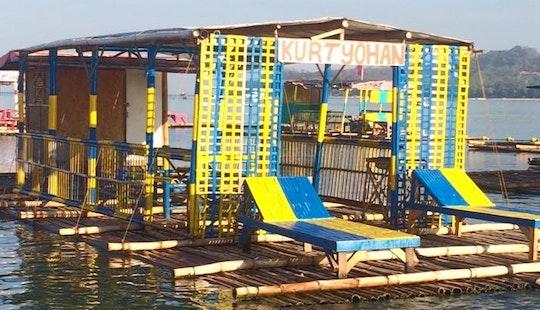 Enjoy Floating Raft In Matabungkay Beach Lian Batangas Philippines