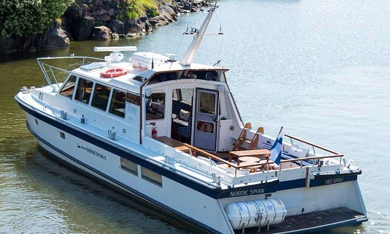 Charter 46' Nordic Swan Trawler in Helsinki, Finland