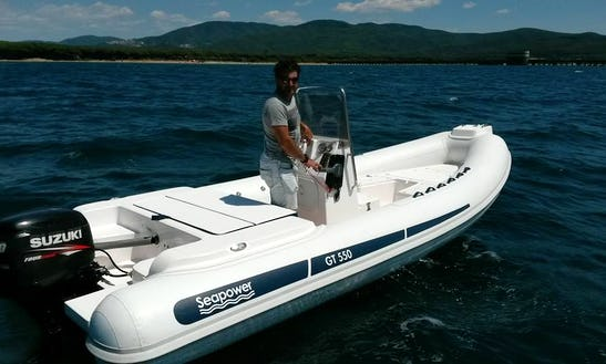 Rent 18' Seapower Rigid Inflatbale Boat In Follonica, Toscana