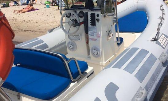 Rent 19' Joker Clubman Rigid Inflatable Boat In Teulada, Sardegna