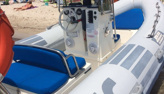 Rent 19' Joker Clubman Rigid Inflatable Boat In Teulada, Sardegna