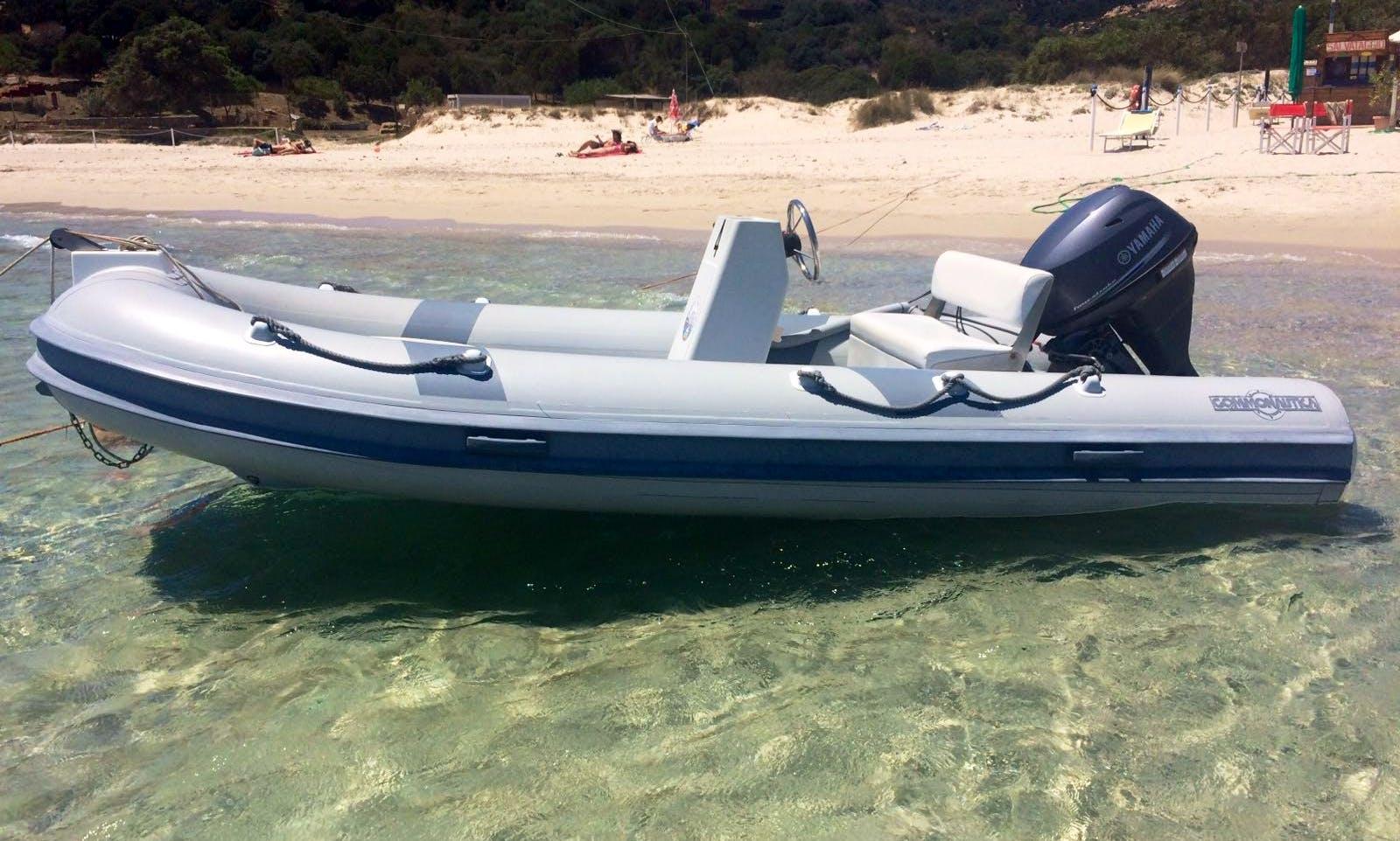 Rent 14' Gommonautica G43 Rigid Inflatable Boat in Teulada, Sardegna