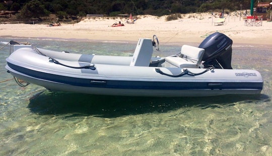 Rent 14' Gommonautica G43 Rigid Inflatable Boat In Teulada, Sardegna