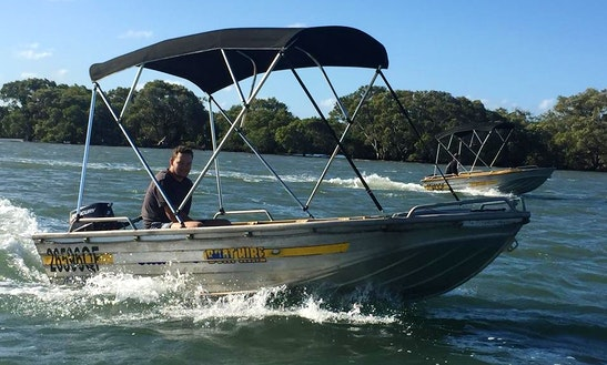 Enjoy Fishing In Jacobs Well, Queensland On Dinghy