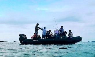 Enjoy Fishing in Saint-Malo, France on Rigid Inflatable Boat