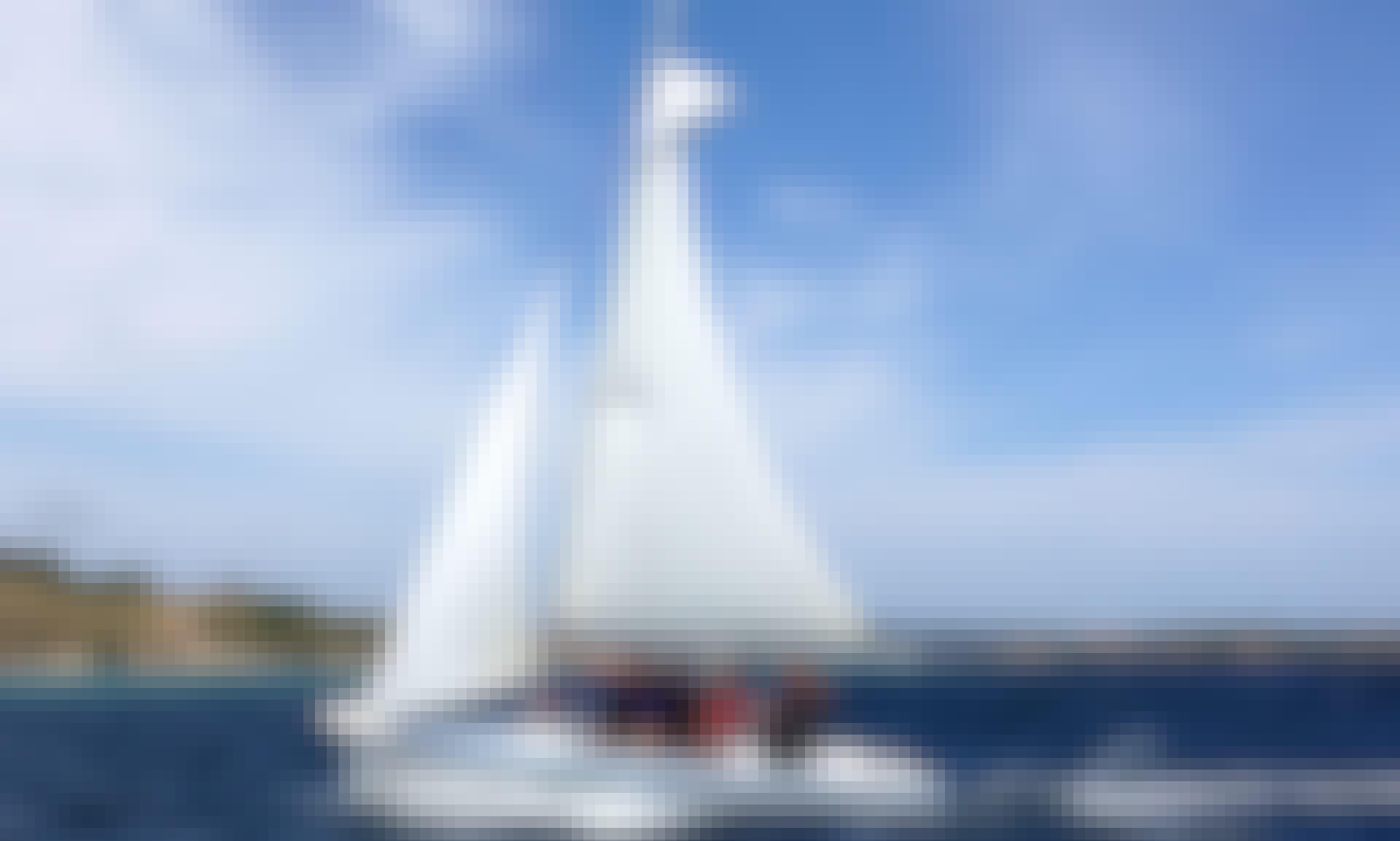 Rent 14' Trident Sailing Dinghy in Porto Pollo, Sardegna