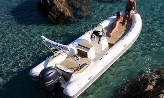 Rent 21' Capelli Tempest Rigid Inflatable Boat in Luri, France