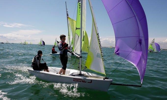 Rent Rs Feva Sailing Dinghy in Porto Pollo, Sardegna