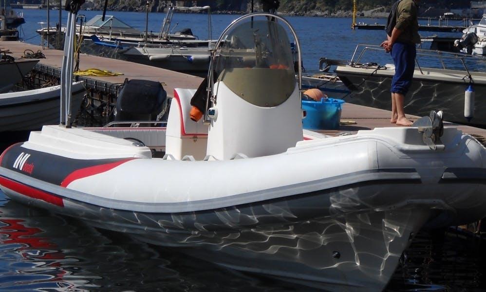Rent 23' Rigid Inflatable Boat in Patti, Sicilia