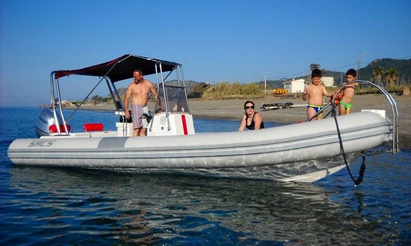 Rent Sacs 750 Rigid Inflatable Boat in Patti, Sicilia