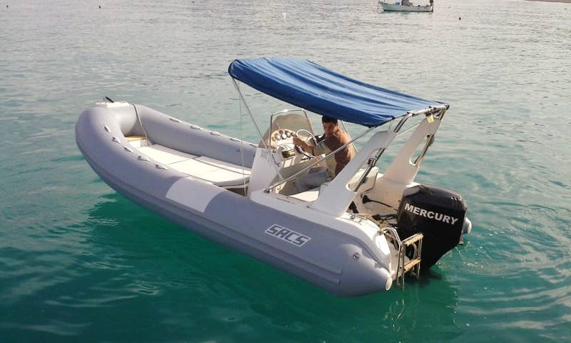 Rent Sacs 550 Rigid Inflatable Boat in Patti, Sicilia