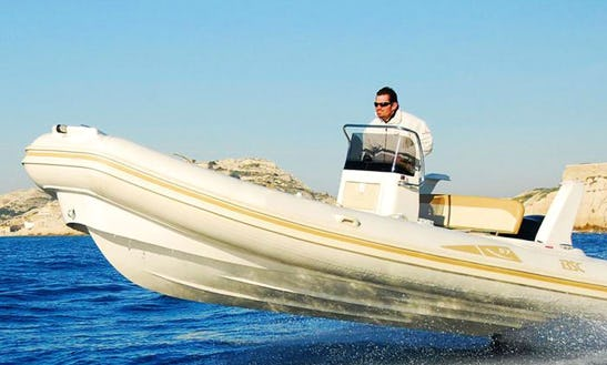 Rent 19' Colzani Bsc Rigid Inflatable Boat In Ajaccio, France