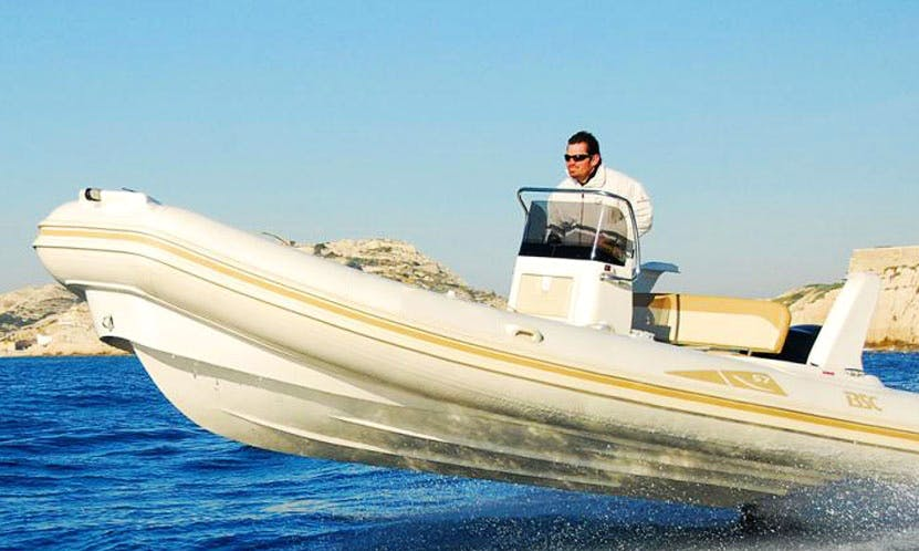19' Colzani BSC Rigid Inflatable Boat with 90 hp Outboard Engine in Ajaccio, France
