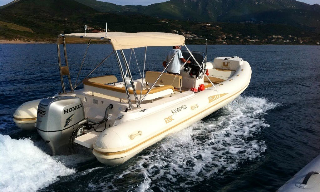 25' BSC RIB with 225 hp Outboard Engine in Ajaccio, France