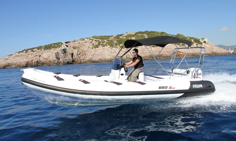 Rent Semi-Rigid 650 Rigid Inflatable Boat in Savines-le-Lac, France