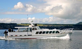 Charter 57' Waikare ll Traditional launch in Taupo, New Zealand