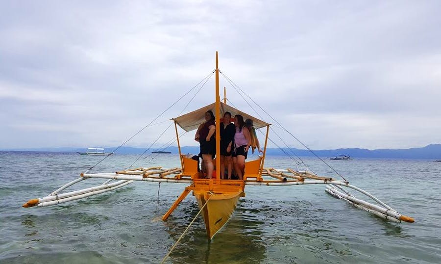 Best Boat Tour in Moalboal, Philippines on a Traditional Boat