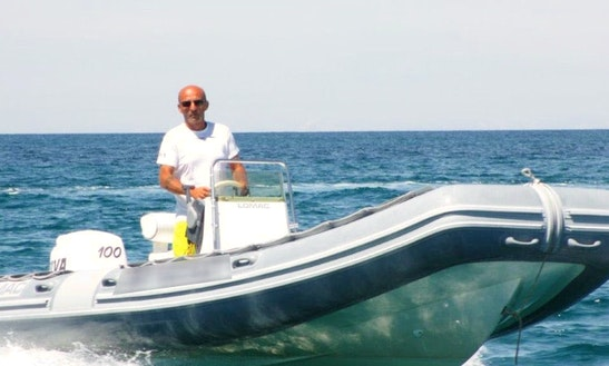 Rent 20' Lomac Rigid Inflatable Boat In Santa-maria-poggio, France
