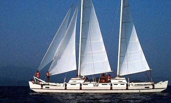 Charter 63' Pahi Cruising Catamaran In Aeolian Islands, Sicilia