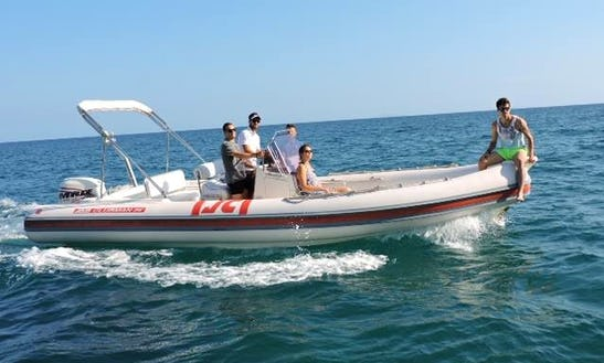 Rent A Rigid Inflatable Boat In San Felice Circeo, Lazio