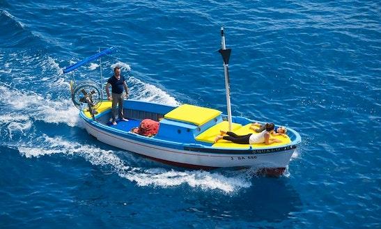 Enjoy Fishing In Furore, Campania On A Inboard Propulsion