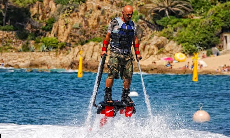 Flyboarding in Propriano, France