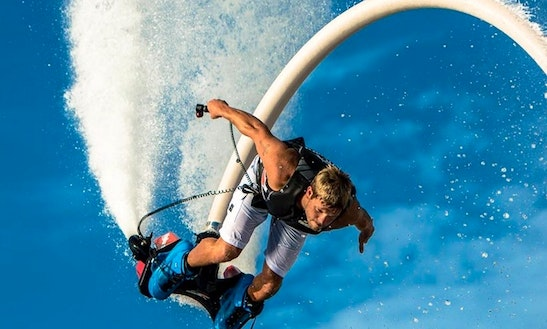 Flyboarding In Alacant, Spain