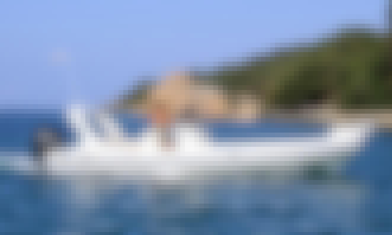 Rent 25' Semi-rigid Capelli 770 Rigid Inflatable Boat in Propriano, France