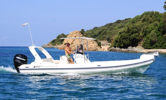 Rent 25' Semi-rigid Capelli 770 Rigid Inflatable Boat In Propriano, France