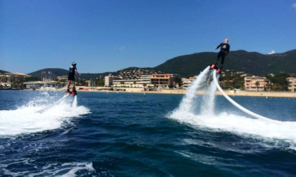Flyboarding in Cavalaire-sur-Mer, France
