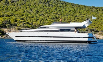 68' Motor Yacht Charter with Full VIP Service in Thasos, Greece