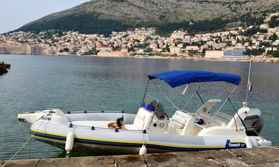 Charter 21' Marlin Rigid Inflatable Boat In Dubrovnik, Croatia