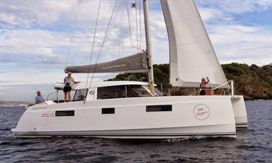 Charter 39' Nautitech Open 40 Cruising Catamaran In Santa Maria Di Lota, France