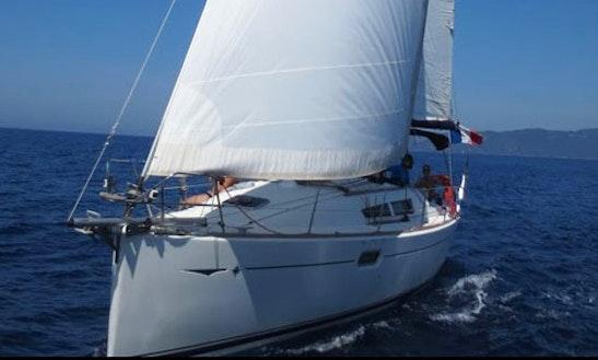 Charter 35' Sun Odyssey 36i Jeanneau Cruising Monohull In Santa Maria Di Lota, France