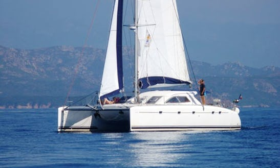 Charter 48' Nautitech 475 Cruising Catamaran In Santa Maria Di Lota, France