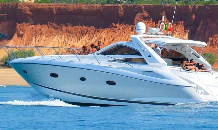 Charter 53' Sunseeker Portofino Power Mega Yacht in Quarteira, Portugal