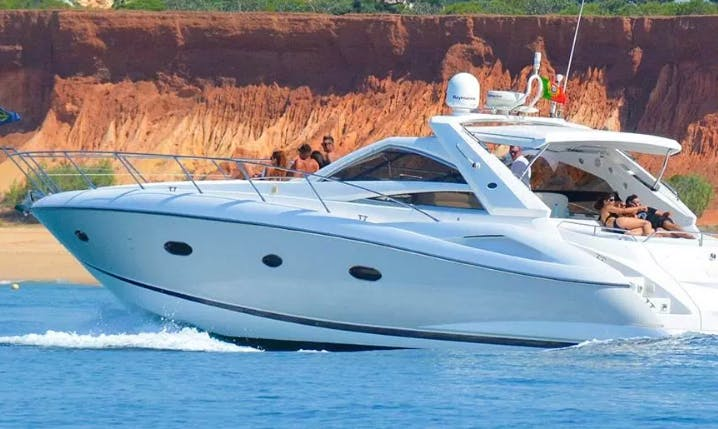 Charter 53' Sunseeker Portofino Power Mega Yacht in Quarteira, Portugal