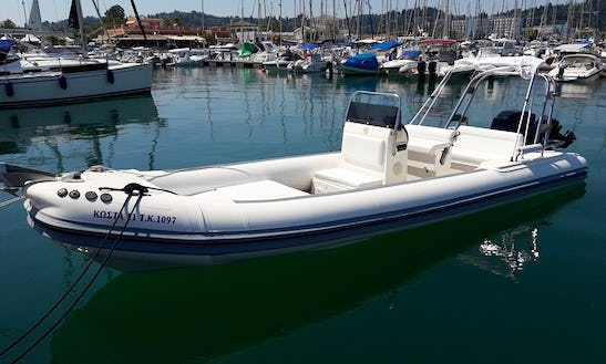 Rent An 8 Person Oceanic Rib In Kontokali, Greece For Your Next Water Adventure