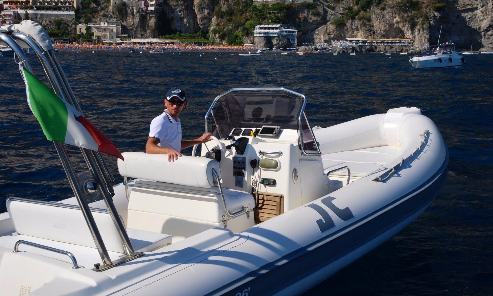 Dinghy rental in Positano for cruising the Amalfi Coast
