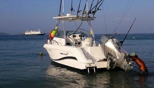 Enjoy Fishing On 25ft Proline Walk Around Yacht In Provincia De Guanacaste, Costa Rica