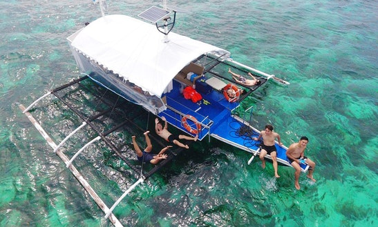 40' Banca Passenger Boat Rental In Tubigon, Philippines
