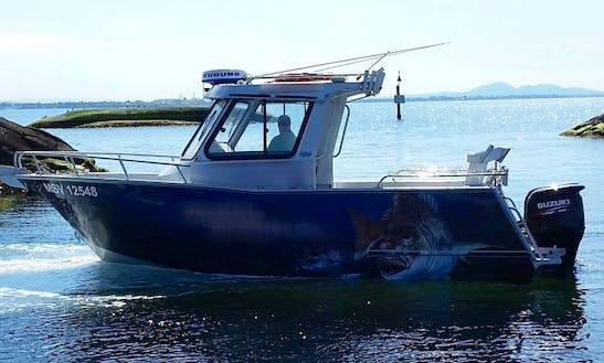 Enjoy Fishing In Victoria, Australia On 23' Cuddy Cabin