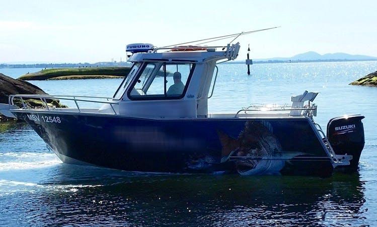 Fishing in Victoria, Australia on 23' Cuddy Cabin