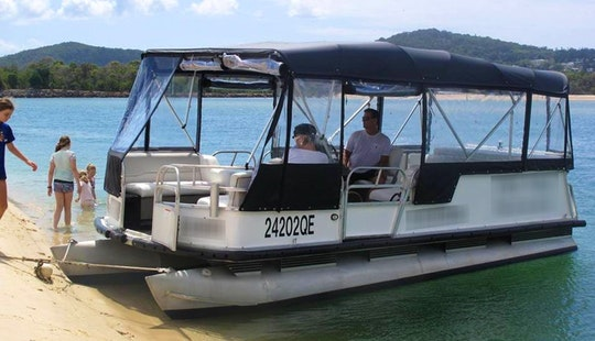 White Pontoon Water Taxi & Private Charter In Noosa Heads, Queensland, Australia