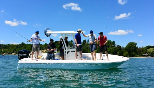 Turkey Point Fishing Charter On 22' Robalo Caymen Bay Boat
